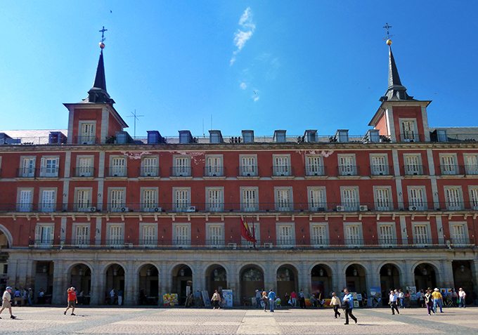 Casa de la Carniceria at Plaza Mayor (square) in Madrid (Spain). Built in the late 16th century.